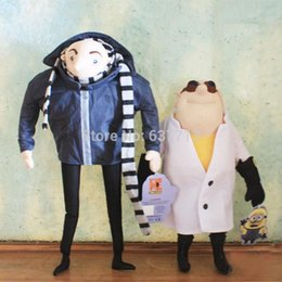 "Wholesale Despicable Doctor - 2pcs Lot 15"" Gru & 13"" Doctor Nefario Despicable Me Plush Toy Collectible Doll Rare 1206#06"