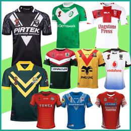 Wholesale England World Cup Jerseys - 2017 World Cup PNG Jersey rugby League jerseys Fiji Ireland Australia New Zealand kiwis Tonga England Lebanon Samoa shirt rlwc rugby uniform