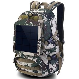Wholesale Backpack Solar Panel - Solar energy backpack Power panel day pack Cell school bag Cool packsack Quality rucksack Sport schoolbag Outdoor daypack