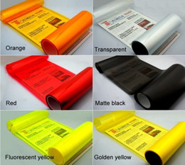 Wholesale Fiber Carbon Sticker - 30cm*100cm Waterproof Auto Car Sticker Smoke Fog Light HeadLight Taillight Tint Vinyl Film Sheet car decoration decals