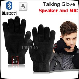 Wholesale Iphone Speaker Magic - wholesale Bluetooth Gloves Hi-Fun Hi-Call Headset Speaker Bluetooth Magic Talking Gloves Full Touch Glove For Moblie Phones iPhone 6s plus