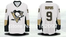 Wholesale Good Penguin - 2016 Cheap Pittsburgh Penguins Road Away #9 Pascal Dupuis White Jerseys Wholesale Good Quality 100% Embroider Ice Hockey Jerseys
