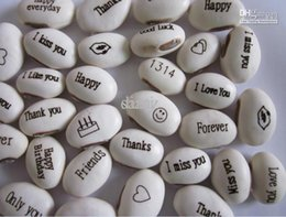 Wholesale Seeds Grow Messages - Free shipping (2500pcs lot) Magic Bean Seeds Gift Plant Growing Message Word,Green Home Decoration