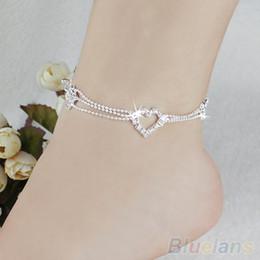 Nouveau Charme Argent Plaqué Perle Cheville Pour Femmes Cheville Bracelet Chaîne Cristal Pied Bijoux 1PMT ? partir de fabricateur