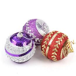 Wholesale Christmas Tree Decorations Luxury - Christmas Tree Decorations 8cm Multicolor Christmas Balls Luxury 8 pieces lot Christmas Decoration Supplies Addobbi Natalizi