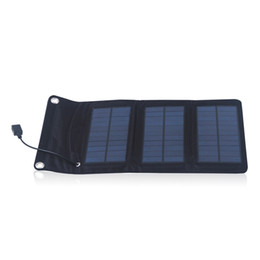 Wholesale 5w Solar Panel Charger - F14657 5.5V 5W Folding Foldable Portable Solar Panel Mobile Phone Charger Kit Solar Camping Mobile MP4 Camera USB Charger + FS