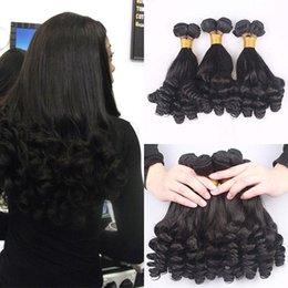 Wholesale Black Aunty - Vogue Sexy Unprocessed Brazilian Aunty Funmi Virgin Hair Weaves,Romance Sprial Curly Human Hair Weft,Natural Black Aunty Fumi Hair Extension
