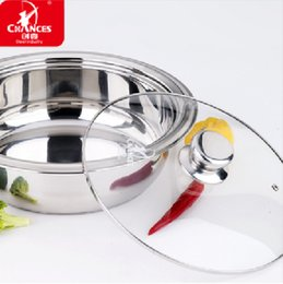 Wholesale Hot Pot Stove - Wholesale-Stainless steel hot pot for gas stove and induction cooker 26CM