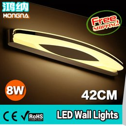 Wholesale Mirror Light Led 7w - Wholesale-AC110~240V High Quality 7W LED Wall Lights Stainless Steel Wall Lamp Bathroom Bedroom Mirror Lights