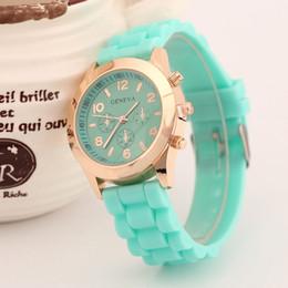 Wholesale Relojes Geneva Silicone - Fashion Casual Geneva Silicone Quartz Watch Ladies Jelly Sport wristwatch,Woman dress brand watches relojes mujer