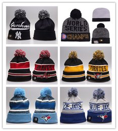 Wholesale Knitting Animal Hats - Good Selling 2017 Hot Knit Baseketball Beanie Sport Knit Pom Pom Knit Hats Baseball Football Sports Beanies Hat Mix Match Order All Caps