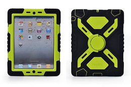 Wholesale Military Tough Case Cover - Tough Military Hard Rugged Heavy Duty ShockProof Dirt Proof Armor Case Cover Impact On Life for iPad 4 iPad 3 2