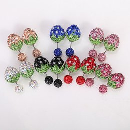 Wholesale Red Accesories - new arrival strawberry stud earrings for women fashion brand Luxury synthetic diamond earrings charm gift women accesories jewelry