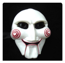 white cheap wholesale 10pcs halloween mask the saw masks party supplies party horror mask scary mask - Scary Halloween Masks Images