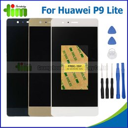 Wholesale Resistive Lcd Touch - Wholesale- For Huawei Ascend P9 lite LCD display with touch screen digitizer Assembly replacement