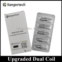 Wholesale kanger coils - 100% Original Kanger Upgraded Dual Coil Replacement Core 1.2ohhm 1.5ohm 1.8ohm Coil Head fit Authentic Aerotank Genitank EMOW Mega