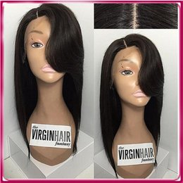 Wholesale india price - Human hair wig stright full lace wig natural black virgin india hair wig price