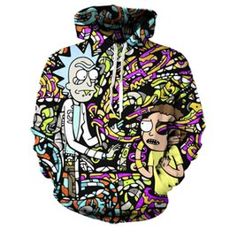 Wholesale Cool Hoodies Women - Wholesale- LiZhiYang sweatshirt Hoodie Men women Cool creative 3D print super rick and morty fashion hot Style Winter Streetwear Clothing