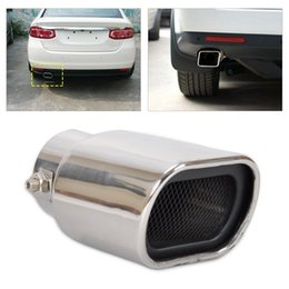 Wholesale Vw Exhaust - Stainless Steel Straight tailpipe Exhaust Tail Rear Muffler Tip Pipe End diameter 32mm-56mm for VW Nissan Peugeot Toyota