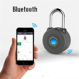 Wholesale Door Anti Theft Lock - IOS Android APP Control Bluetooth Smart Bicycle Lock Anti Theft Alarm Padlock for Cycling Motorycle Door Cabinet