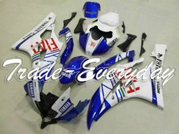 Wholesale R6 Rear Seat Cover - Injection Mold Fairing Kit With Rear Seat Cover Half Tank Fit YZF600 R6 2006-2007 YZF 600R6 06-07 FIAT White Blue 10V38