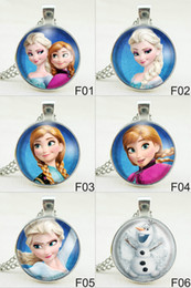 Wholesale Jewellery Necklace Metal - 2015 Necklaces anna elsa olaf girls Jewelry Pendant Necklace Jewellery christmas Gift for women boys kids children sweater chain