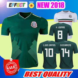 Wholesale Red White Blue Shorts - New Arrived 2017 2018 Mexico Soccer Jersey Home Away 17 18 Green CHICHARITO Camisetas de futbol Hernandez G DOS SANTOS football shirts