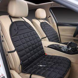 Pad invernale riscaldata dall'automobile online-Cuscino del riscaldamento elettrico per auto, cuscino del materassino caldo per auto, sedile singolo riscaldato con regolazione automatica della temperatura autunnale