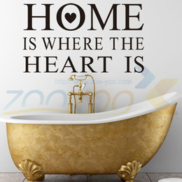 Wholesale Heart Decals - Home Is Where The Heart Is home decor creativewall decal ZooYoo8123 decorative adesivo de parede removable vinyl wall sticker