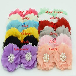 Wholesale Baby Rosette Shoes - 24pairs U-Pick Barefoot Baby Sandals Soft Stretchy Rosette flower shoes Pearl Baby elastic Shoes Flower Barefoot Sandals