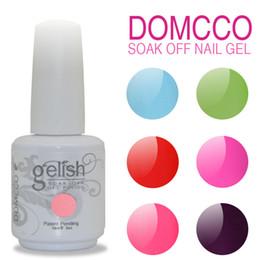 Wholesale Gelish Nails - 54pcs lot DHL TNT GELISH GEL NAIL POLISH SOAK OFF LED UV NAIL GEL POLISH LACQUER SET+BASE COAT+TOP COAT