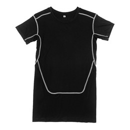 Wholesale Tights Collection - Men Compression T-shirt Base Layer Tops Shirt Tight Short Sleeve Sports Gear Collection