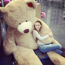 """Wholesale Huge Brown Bear - Wholesale 260cm(102"""") GIANT HUGE BIG BROWN TEDDY BEAR COVER SHELL PLUSH SOFT TOY COVER SHELL ONLY(WITHOUT STUFFING)"""