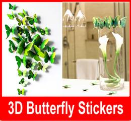 2019 tuiles de son Nouveau Cendrillon papillon 3d papillon décoration stickers muraux 12 pc 3d papillons 3d papillon pvc stickers muraux amovibles papillons