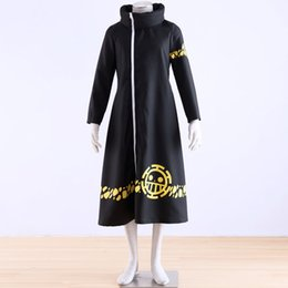 Wholesale Trafalgar Law S Coat - Japanese Anime One Piece cosplay Trafalgar Law Coat 2 years laterr Costume adult long gown wholesale