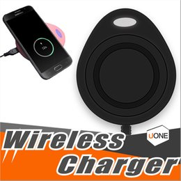 Wholesale Qi Standard - New Type colorful Wireless Fast Charger charging QI Standard Mini Wireless Quick Charger For Iphone X 8 Samsung s8 note8 huawei LG