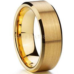 Wholesale Cheap Titanium Rings For Men - Wholesale-Hot sale full sizes cheap classic gold Ion plating titanium wedding bands for men size 15 alianca de ouro casamento