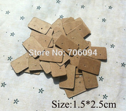 Wholesale Wholesale Card Displays - Free Shipping,Wholesale 1000pcs lot Brown Kraft Paper Custom Jewelry Earring Packaging Display Cards 1.5*2.5CM ,custom cards