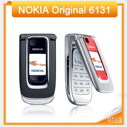 Wholesale Cheapest Refurbished Phones - Cheapest 6131 Original Nokia Mobile Phone Bluetooth Freeshipping by SG   HK post(only black color)