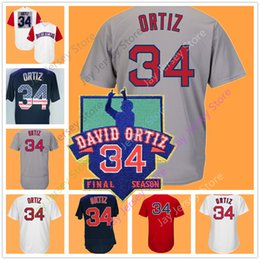 Wholesale Red Flags Men - David Ortiz Jersey Men Women Youth Dominican Home Away Cool Base Flexbase White Red Grey Blue Flag