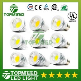 Wholesale Spot 12v Led 6w Mr16 - Dimmable COB Led bulb 6W 9W 12W 60 angle led spot lights GU10 E27 110-240V MR16 12V Led lamp lighting Led light 10