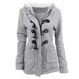 Wholesale Green Leather Sleeve Jacket - 2017 autumn winter explosion big size, women's cap long sleeve, classic ox horn leather pair, cotton jacket jacket, jacket