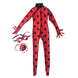 Canada Coccinelle Grande Fille Vêtements Cartoon Prêt Costumes Dress Up Halloween Cosplay Enfants Perruque Stade Rôle Poches Masque Pour Les Yeux Navire Libre Offre
