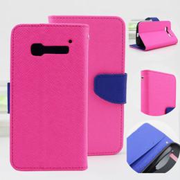 Wholesale D3 Case - for Alcatel One Touch Pop C1 C2 C3 C5 C7 C9 OT6032 OT5020 OT6036 7024 D3 Contrast Color Wallet Stand Leather Case Free Shipping (A0336)