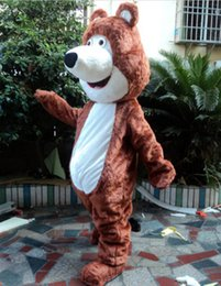 Wholesale Brown Grizzly Bear Costume - 2015 new high quality Masha Bear Bruin Ursa Grizzly Mascot Costume