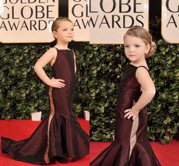 Wholesale Collared Girls Party Dress - 2015 Fashion Mermaid Girls Pageant Dresses Burgundy Taffeta Girls Celebrity Dresses Sweep Train Mini Taylor Swift Flower Girls Party Dresses