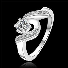 Высокое качество стерлингового серебра 925 швейцарский CZ Алмаз свадьба / обручальное кольцо ювелирные изделия низкая цена бесплатная доставка supplier diamond wedding ring prices от Поставщики бриллиантовое кольцо