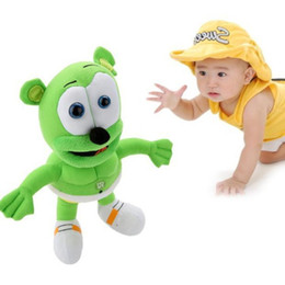 Wholesale Musical Plush Toy - 2017 new 32cm Singing I AM A GUMMY BEAR MUSICAL New Gummibar Plush Soft Toy Bear Doll free shipping