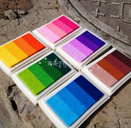Wholesale Rubber Stamps Set - 12pcs lot craft ink pad Mix color Let's Color series DIY inkpad ink pad set scrapbooking stamp Freeship wholesale funny gifts