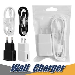Wholesale Note Set - 5V 2A EU US USB Charger USB Home Wall Charger Adapter With 1M Micro USB Cable Sets For Samsung S6 Note 5